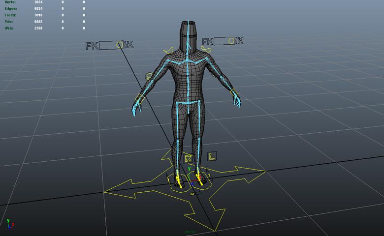 Настройка скелета и оснастка персонажа - Skinning and Rigging